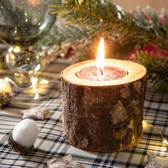 Achat en ligne Support bougie chauffe plat rodin bois