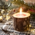 Support bougie chauffe plat rodin bois