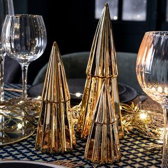 Sapin décoratif doré 13 cm
