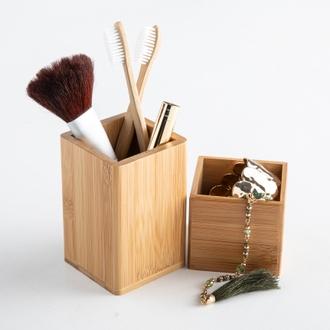 Pot maquillage en bambou s