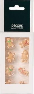 8 décors en sucre gingerbread 6g