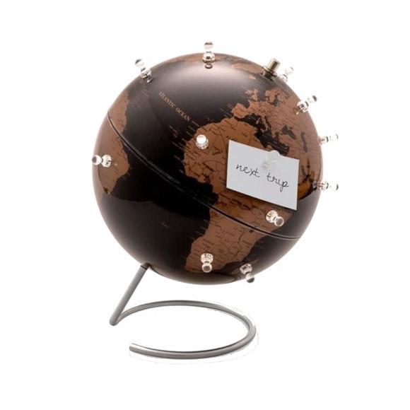 Achat en ligne Globe terrestre magnétique noir et cuivre 23cm