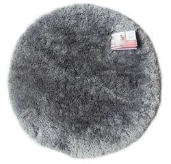Achat en ligne Tapis de bain rond 55x55cm en coton tufté cendre