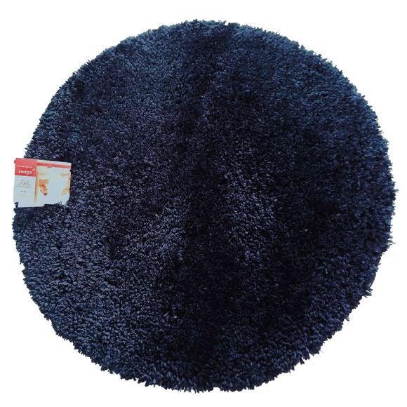 Tappeto bagno rotondo blu 55x55
