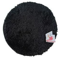 Achat en ligne Tapis de bain rond 55x55cm en coton tufté charbon
