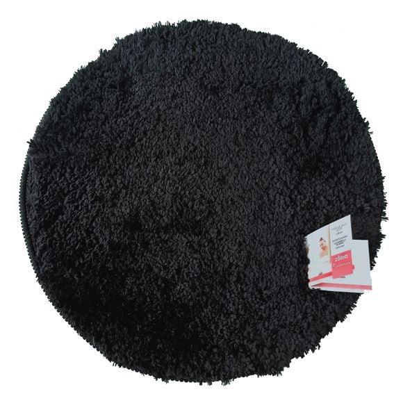 Tappeto da bagno rotondo nero 55x55