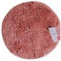 Tappeto da bagno rotondo rosa antico 55x55