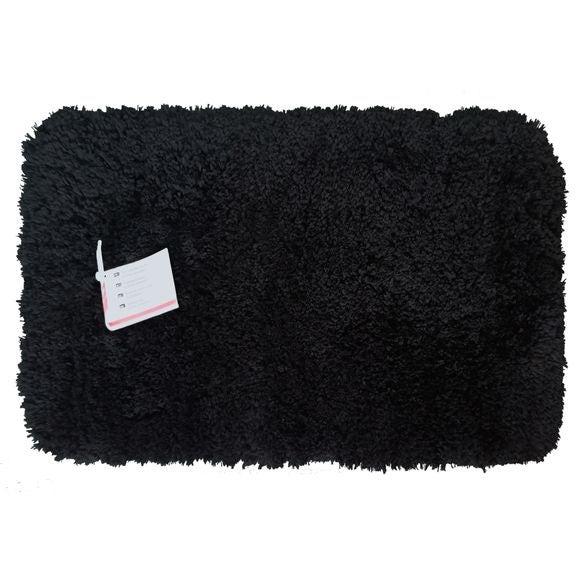 Tappeto da bagno rettangolare nero 40x60