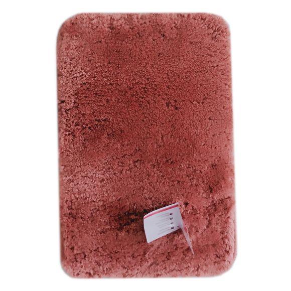Tappeto da bagno rettangolare rosa antico 40x60