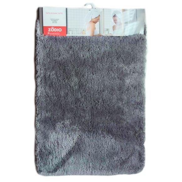 Tappeto da bagno rettangolare grigio 60x90