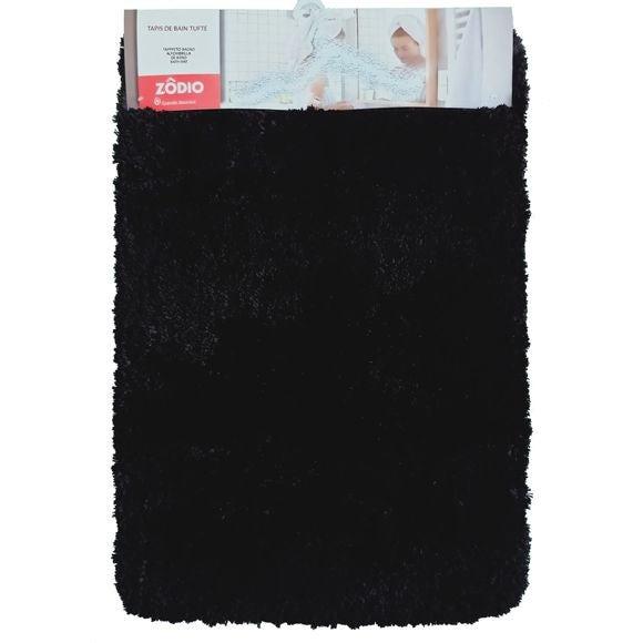 Tappeto da bagno rettangolare nero 60x90