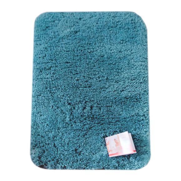 Tappeto da bagno rettangolare blu azzuro 60x120