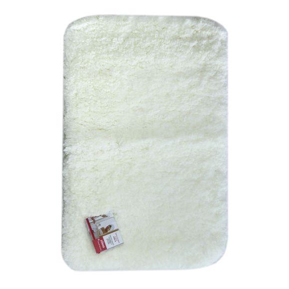 Tapis de bain 60x120cm en coton tufté blanc