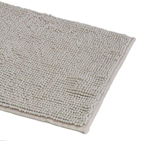 Achat en ligne Tapis de bain 60x90cm en microfibre chenille tourterelle