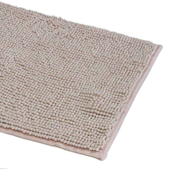 Tappeto da bagno rettangolare rosa 60x120