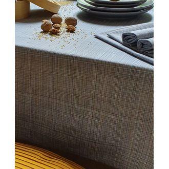 Nappe 150x250cm en coton imprimé gris manza