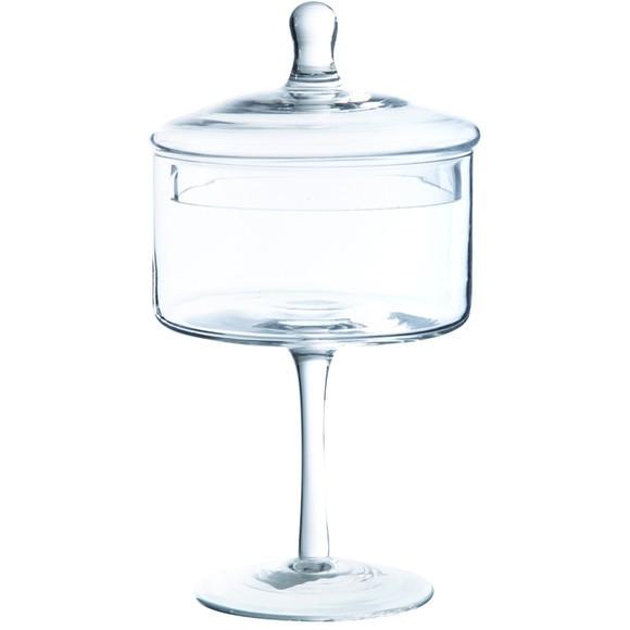 acquista online Barattolo porta caramelle con base vetro 24x13cm