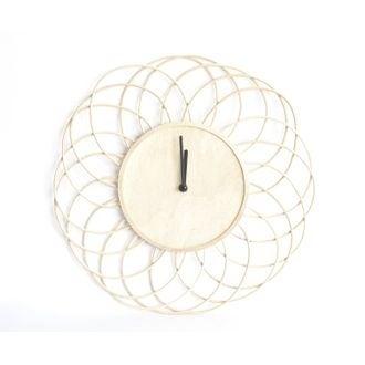 Horloge rotin 40cm