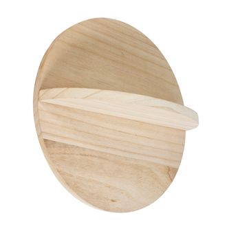 Etagère bois rond 30x30x10cm
