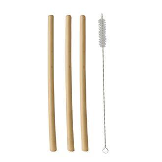 Set 12 cannucce con scovolino in bamboo