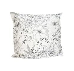 compra en línea Funda de almohada de percal blanco Vagabonde (65 x 65 cm)