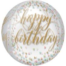 Achat en ligne Ballon birthday or Orbz