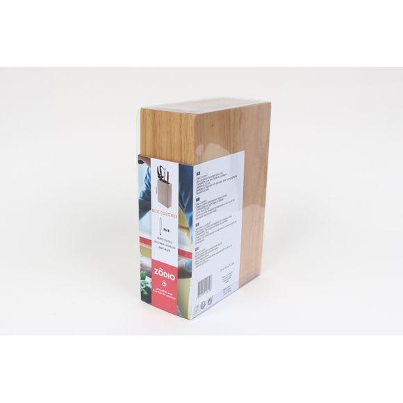 Bloc couteaux universel rectangle bois clair
