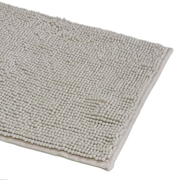 Tappeto da bagno rettangolare beige 40x60