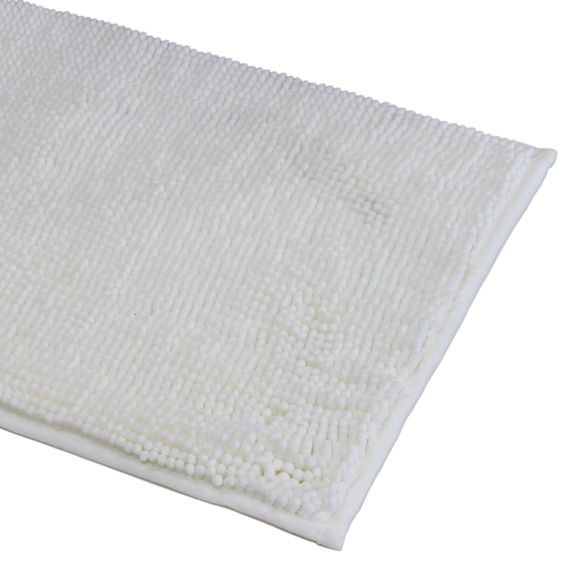 Tappeto da bagno rettangolare bianco 40x60