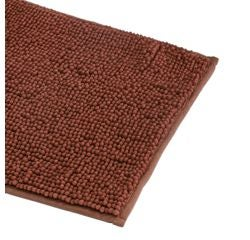 Achat en ligne Tapis de bain 40x60cm en microfibre chenille terracota