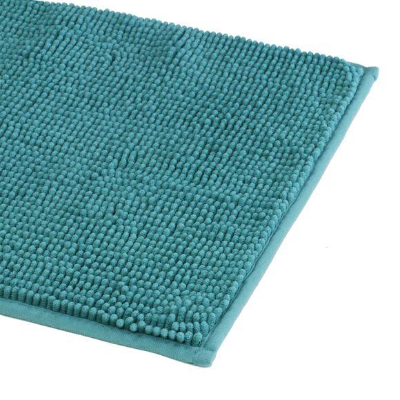 Tappeto da bagno rettangolare blu azzuro 60x90