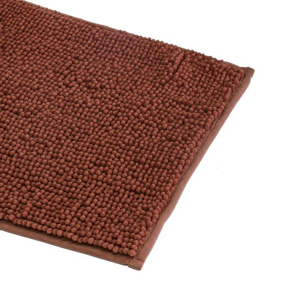 Tappeto da bagno rettangolare rosa antico 60x90