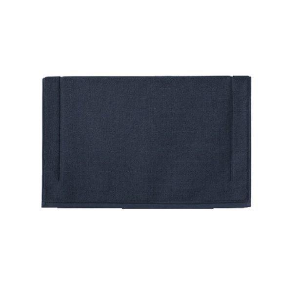 Achat en ligne Tapis de bain 60x60cm en coton éponge bleu marine