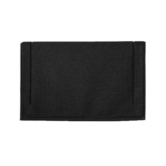 compra en línea Alfombra de baño de felpa algodón negro (60 x 60 cm)