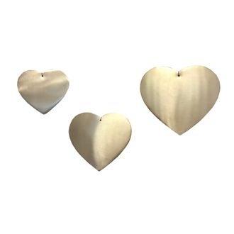 Set de 3 cœurs laiton 8-10-12cm