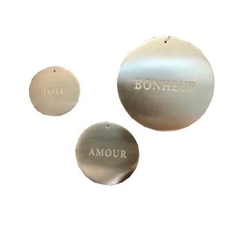 Set de 3 médailles laiton 8-10-12cm