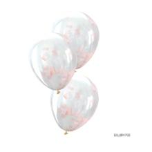 Achat en ligne 6 Ballons confettis rose