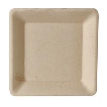 Achat en ligne 50 assiettes rectangulaires en canne à sucre 15,5 cm