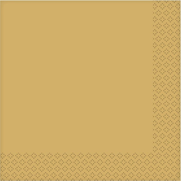 acquista online Tovaglioli di carta metal oro 20pz. 33X33cm