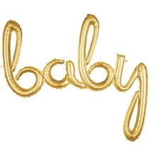 Achat en ligne Ballon hélium baby gold