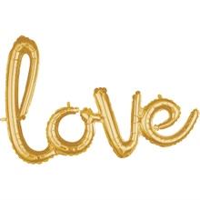 Achat en ligne Ballon hélium love gold