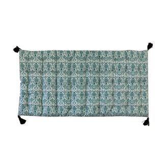 Futon en coton bleu gris archaique 60x120cm