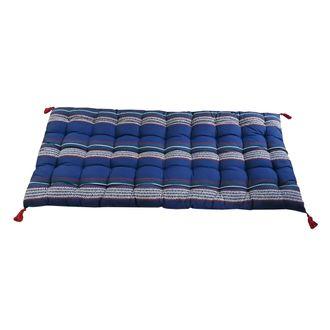 Futon rayé bleu majorelle 60x120cm