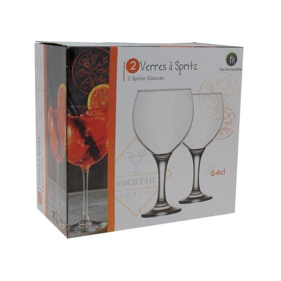 2 verres à pied Spritz 65cl