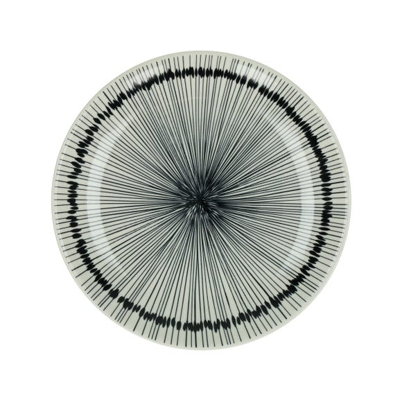 Achat en ligne Assiette à dessert Jupon en porcelaine noir ø 22 cm