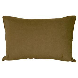 Taie 50x70cm lin/coton foin