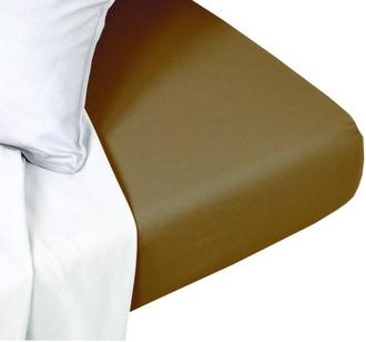 Drap housse 160x200cm coton foin