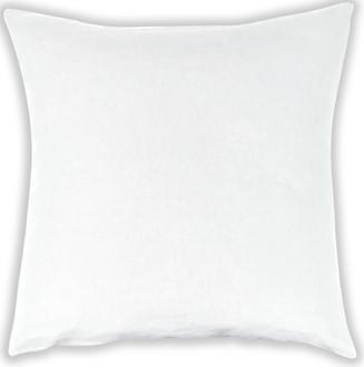 Taie 65x65 cm lin/coton blanc neige