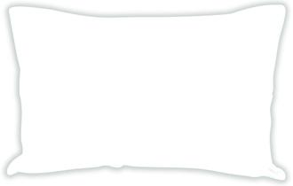 Taie 50x70cm lin/coton blanc neige