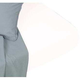 Drap housse 160x200cm coton blanc neige